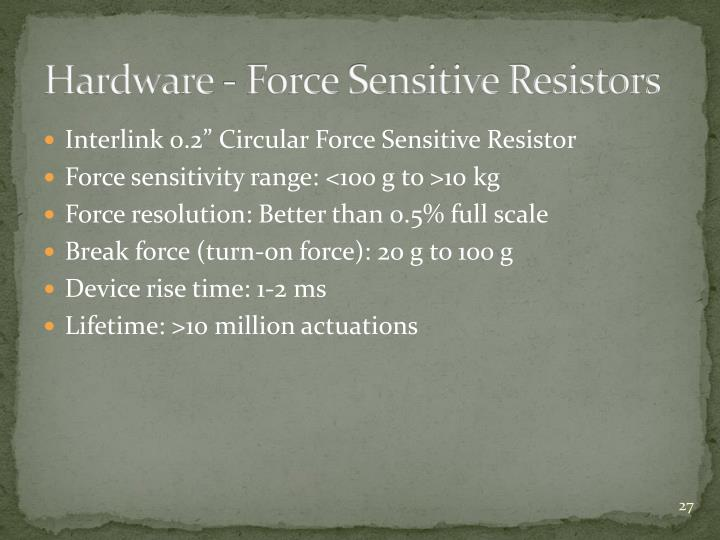 Hardware - Force Sensitive Resistors