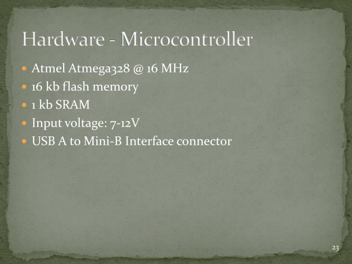 Hardware - Microcontroller