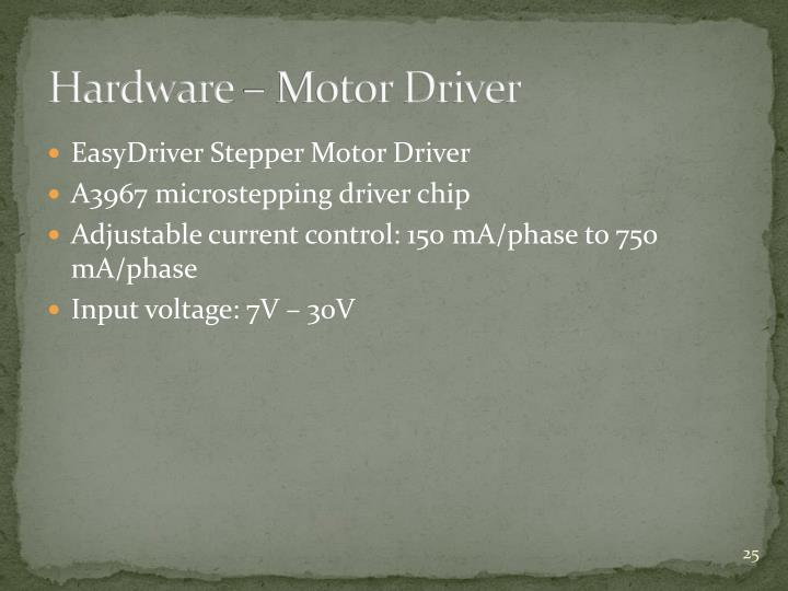 Hardware – Motor Driver