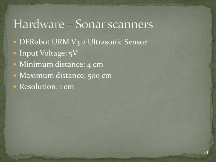 Hardware – Sonar scanners