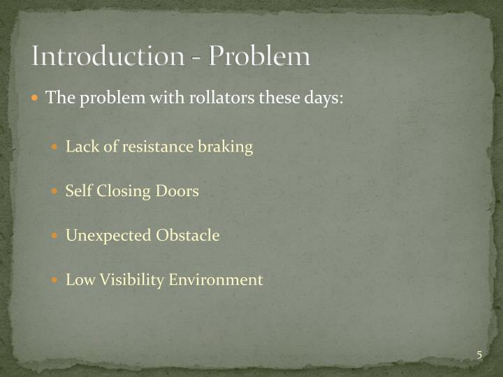 Introduction - Problem