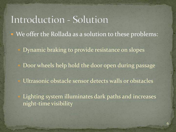 Introduction - Solution