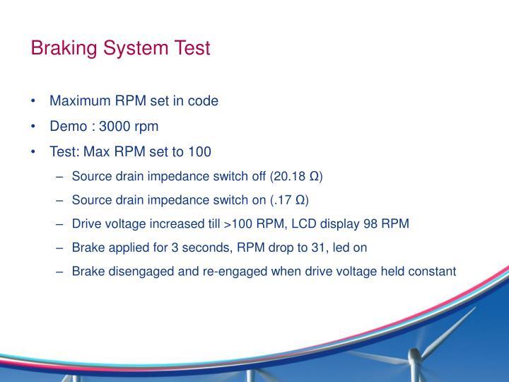 Braking System Test