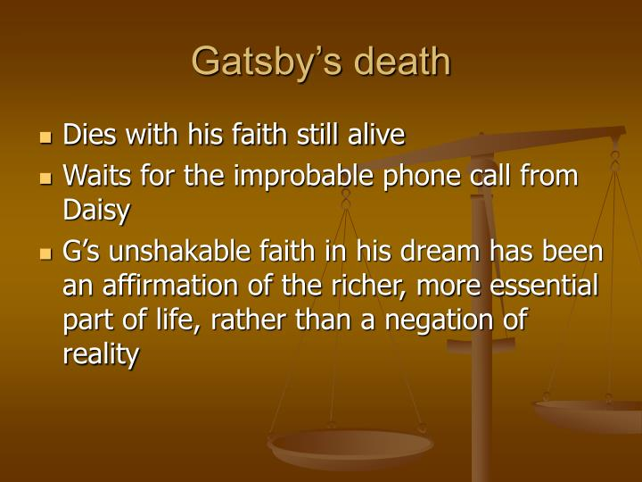 Gatsby's death
