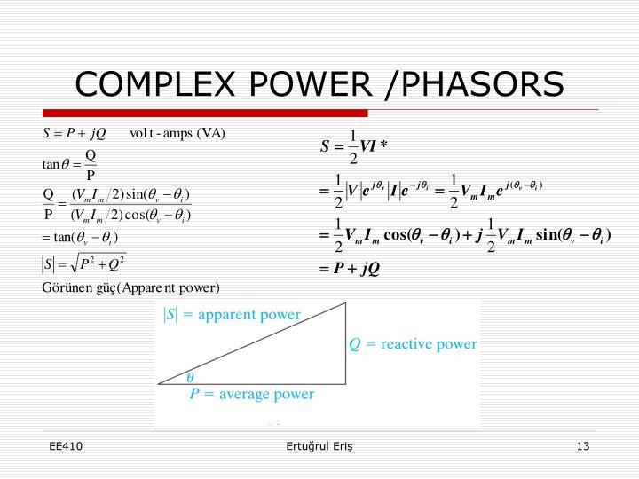 COMPLEX POWER /PHASORS