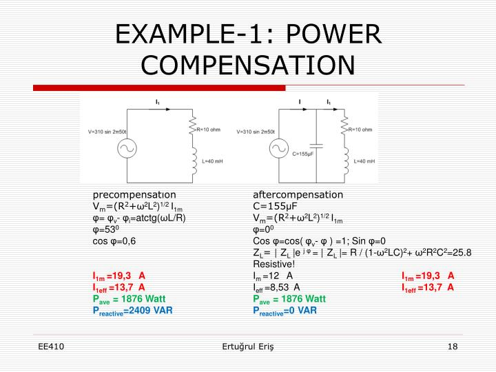 EXAMPLE-1: POWER COMPENSATION