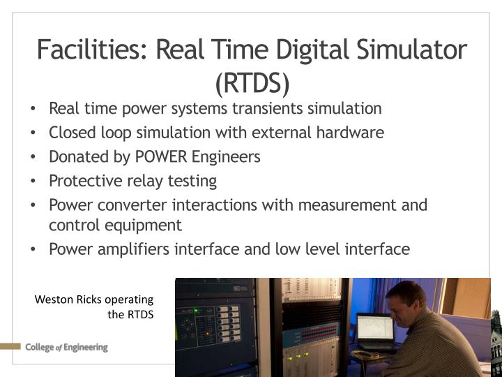 Facilities: Real Time Digital Simulator (RTDS)