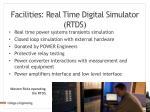 facilities real time digital simulator rtds