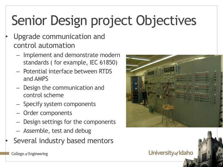 Senior Design project Objectives
