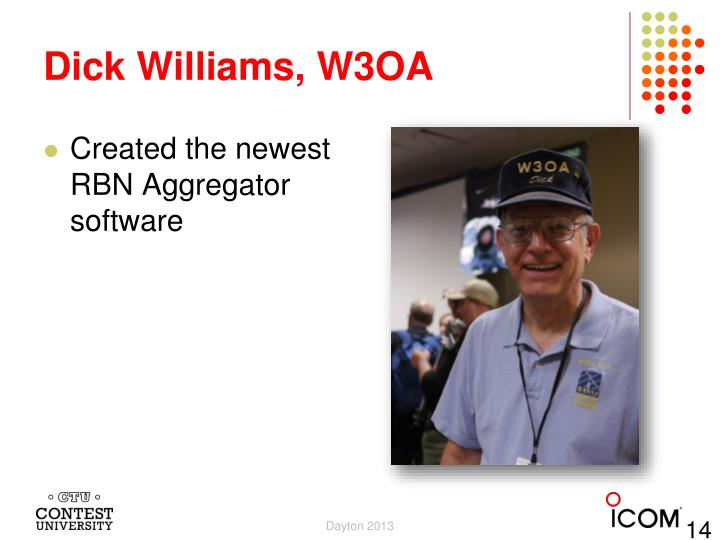 Dick Williams, W3OA