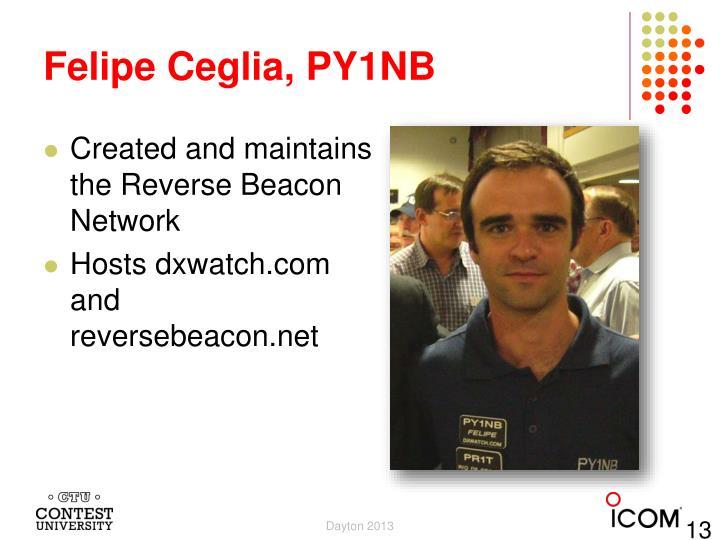 Felipe Ceglia, PY1NB