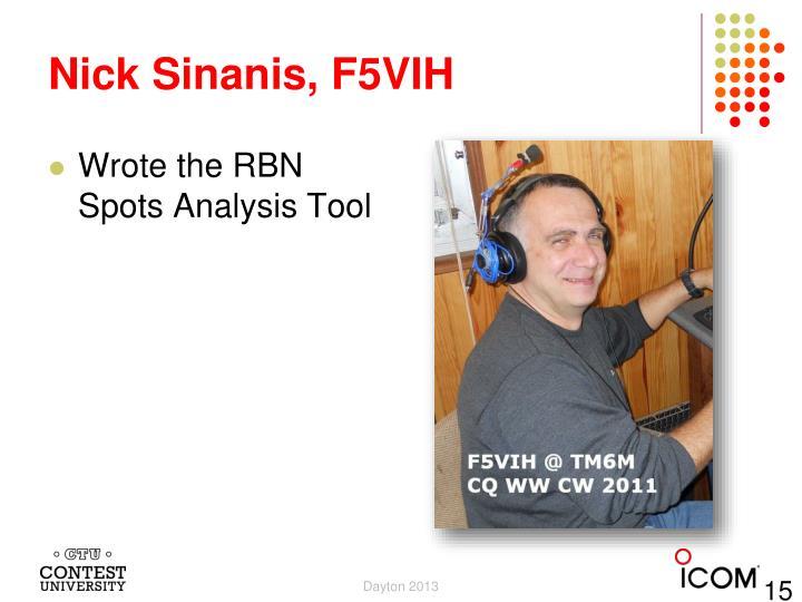 Nick Sinanis, F5VIH
