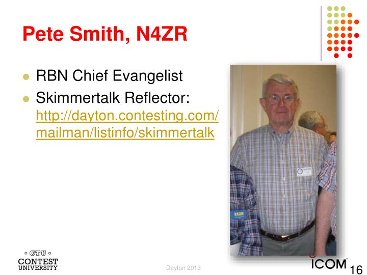 Pete Smith, N4ZR