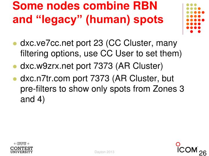 """Some nodes combine RBN and """"legacy"""" (human) spots"""