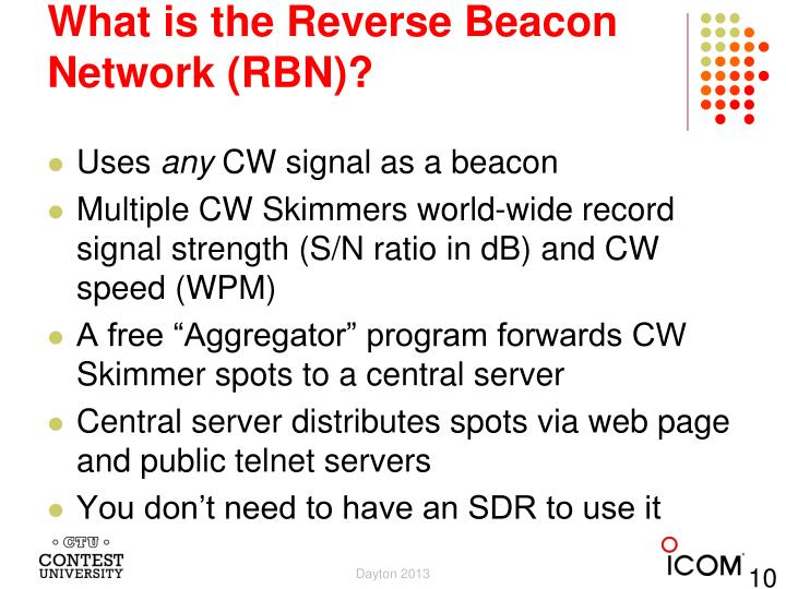 What is the Reverse Beacon Network (RBN)?