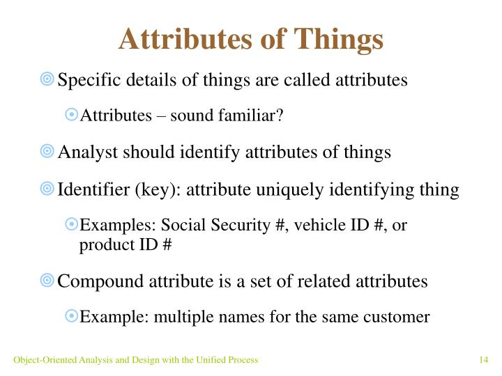 Attributes of Things