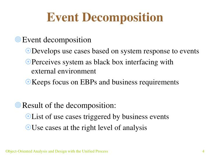 Event Decomposition