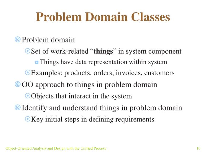 Problem Domain Classes