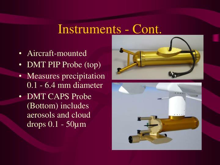 Instruments - Cont.