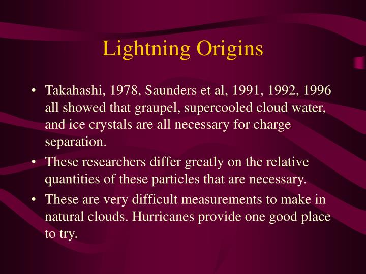 Lightning Origins