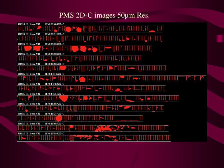 PMS 2D-C images 50µm Res.