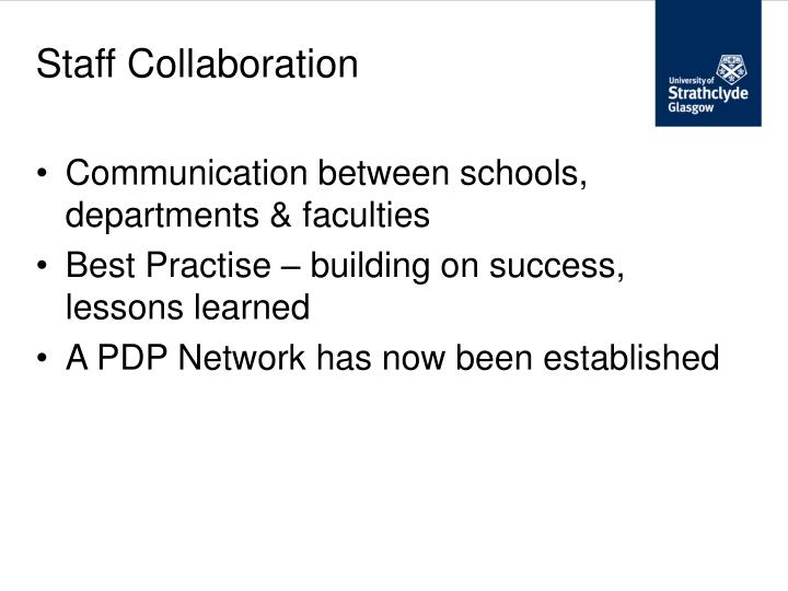 Staff Collaboration