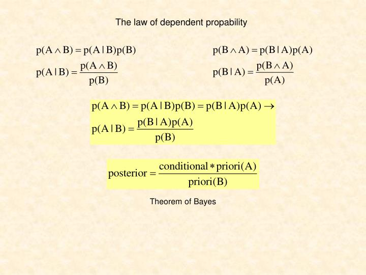 The law of dependent propability