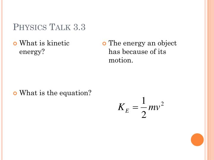 Physics Talk 3.3