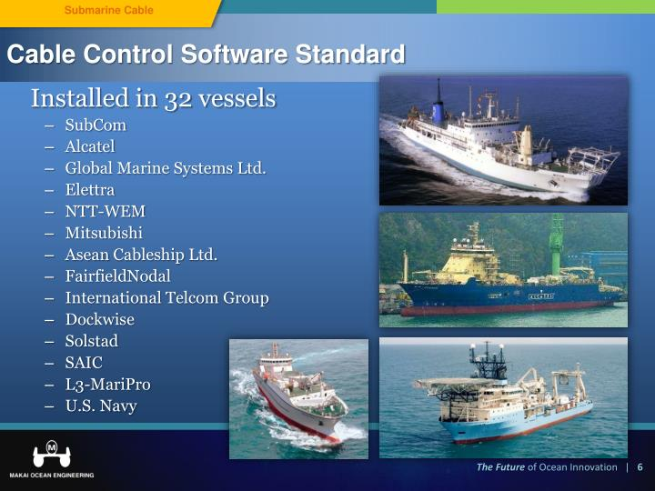 Cable Control Software Standard