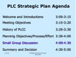 plc strategic plan agenda1