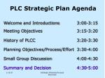 plc strategic plan agenda2