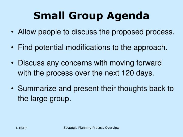 Small Group Agenda