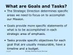 what are goals and tasks