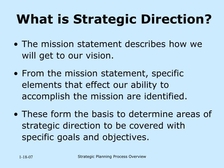 What is Strategic Direction?