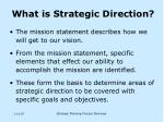 what is strategic direction