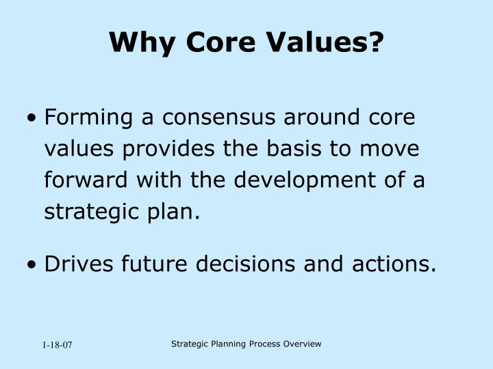 Why Core Values?