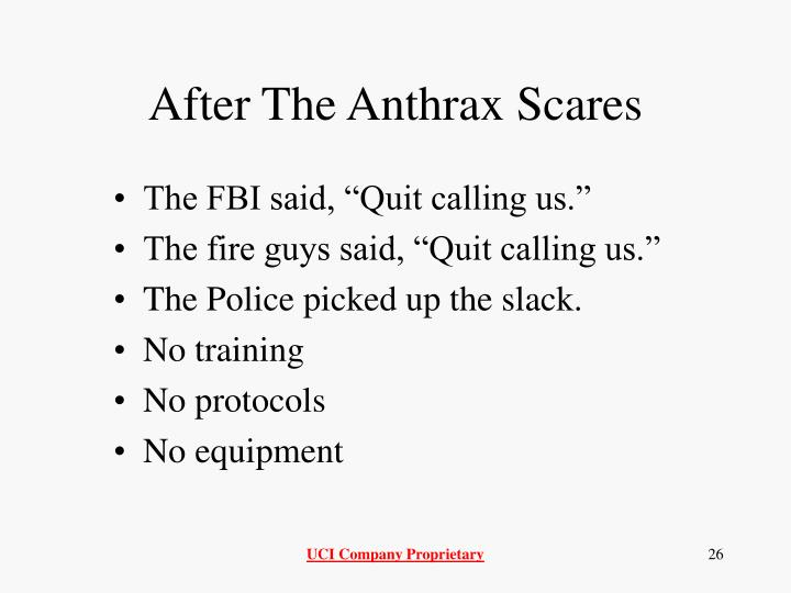 After The Anthrax Scares