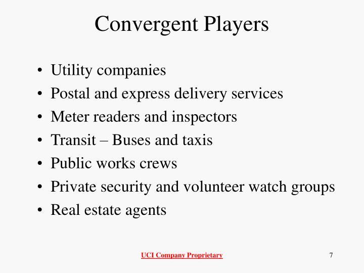 Convergent Players