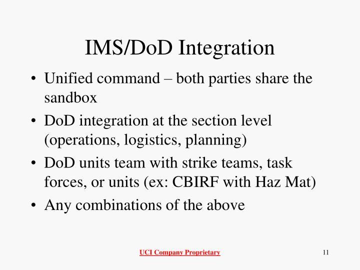 IMS/DoD Integration