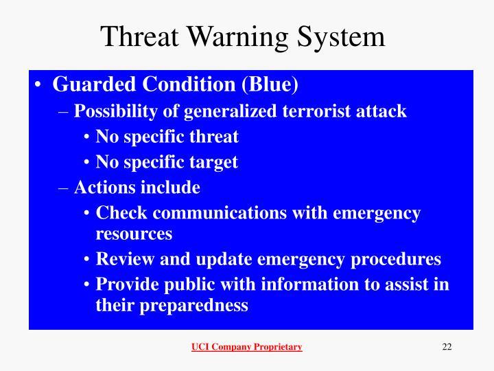 Threat Warning System