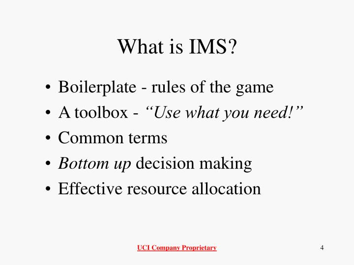 What is IMS?
