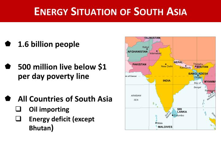 Energy Situation of South Asia