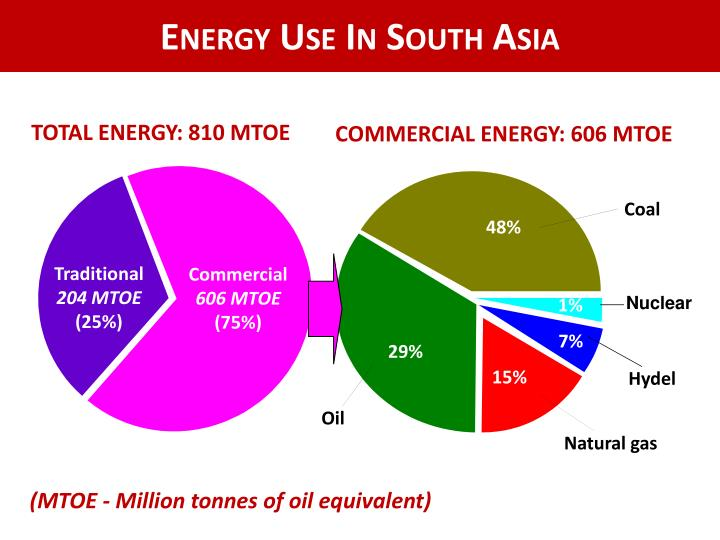 Energy Use In South Asia