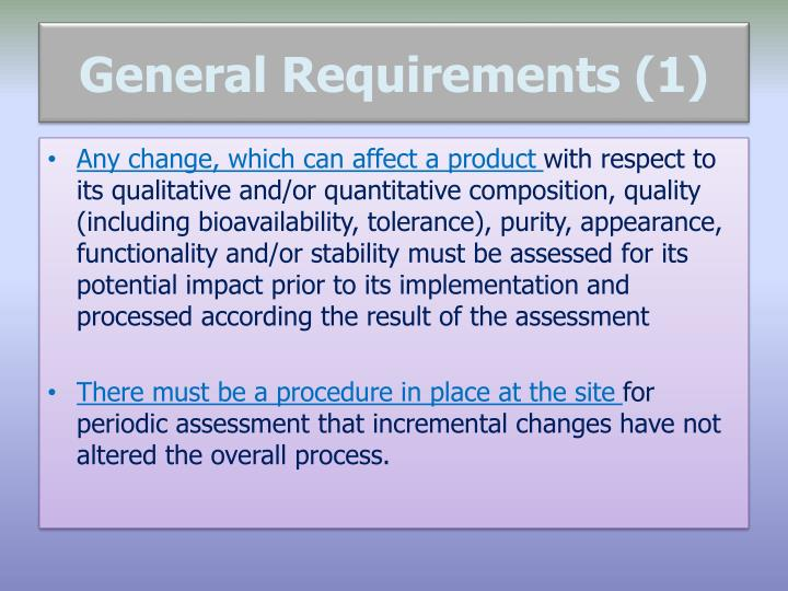 General Requirements (1)