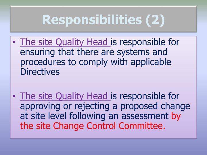 Responsibilities (2)