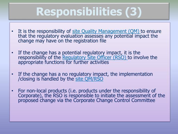 Responsibilities (3)