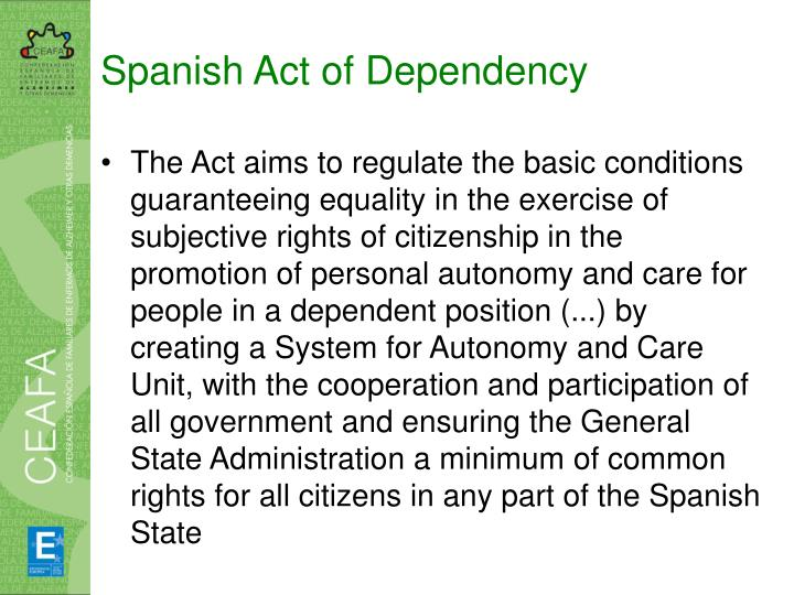 Spanish Act of Dependency