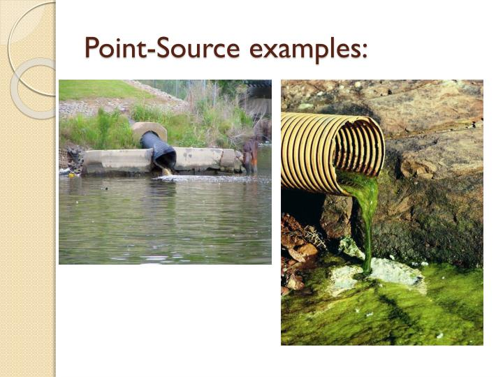 Point-Source examples: