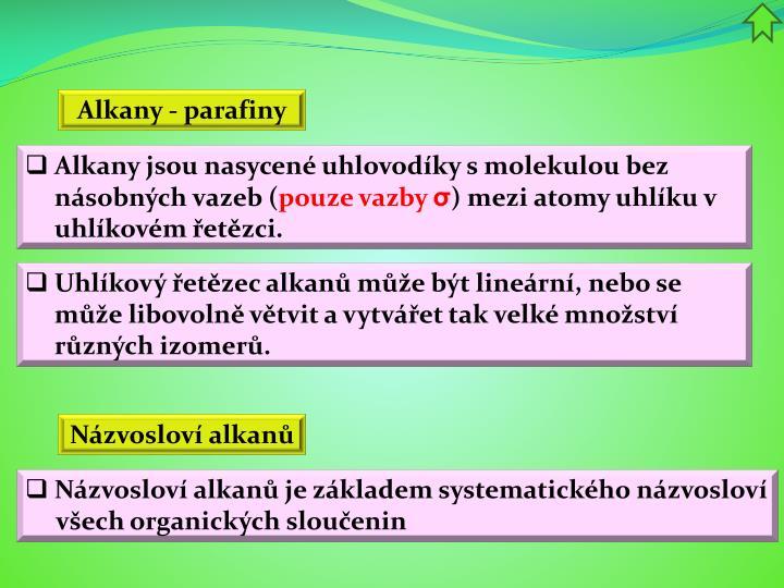 Alkany -