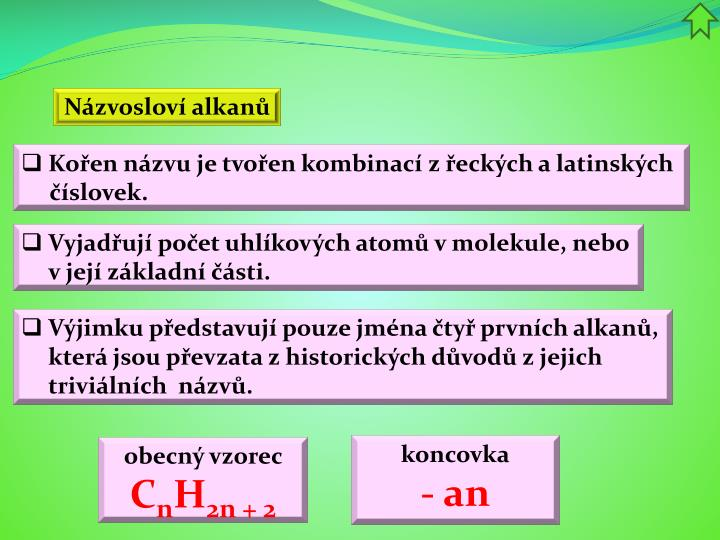 Názvosloví alkanů